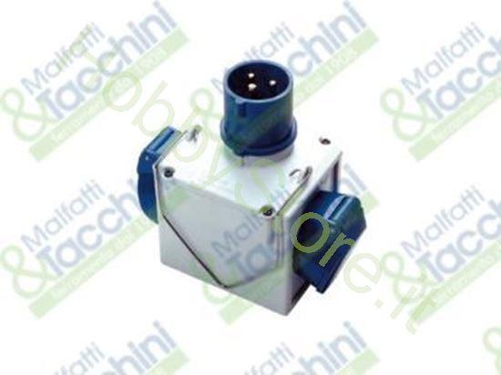 Picture of Adattatore Cee Doppio 220V Cod. 126651