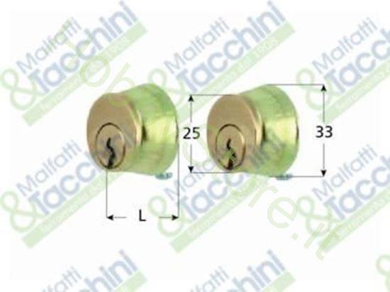 Picture of Coppia Cilindri Tondi Fissi 25 Cod. 25634