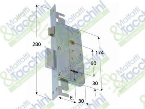 Picture of Serrature Dm Infil. 2Mand. E50 Cod. 15001