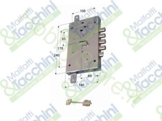Picture of Serrature P/Porte Blindate Dx Cod. 156107