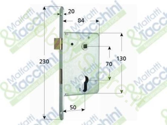 Picture of Serrature Porte Legno 2 Mand.S Cod. 144634