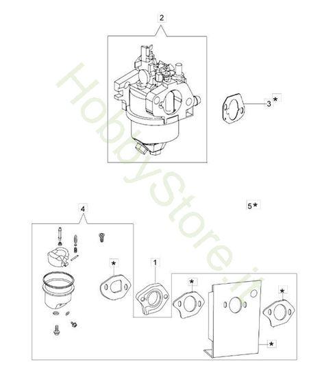 Esploso Carburatore G 44 pk Comfort Plus