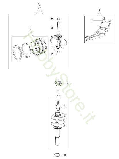 Albero e Pistone G 48 PK Comfort Plus