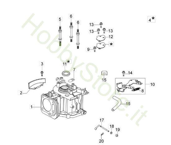 Picture of Cilindro e Basamento rasaerba G 53 Tk Comfort Plus