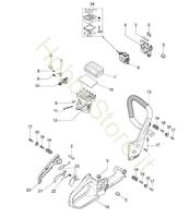 Impugnatura e filtro d'aria per GS 350 C