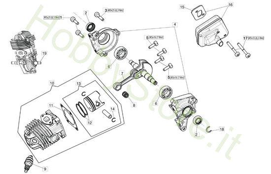 Motore per GST 250