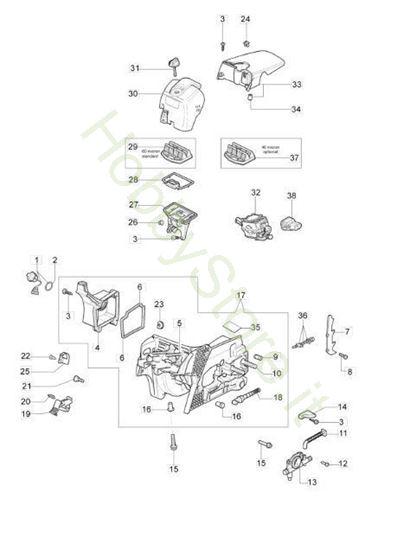 Basamento e filtro aria per GS 410 C