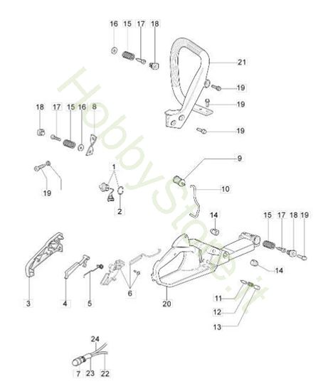 Serbatoio e impugnatura per GS 410 C