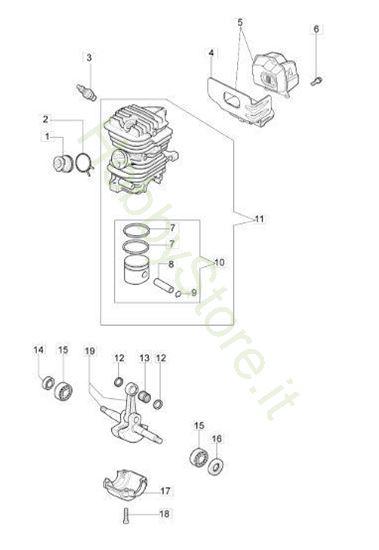 Motore per GS 410 CX