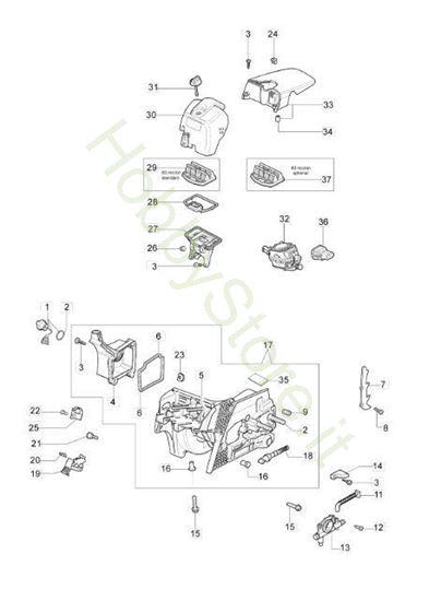 Basamento e filtro aria per GS 410 CX