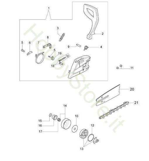 Frizione e freno per GS 410 CX
