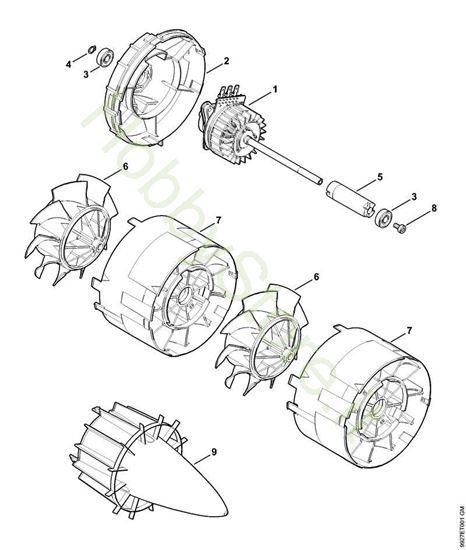 Motore elettrico, soffiante Bga 85