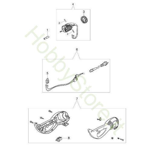 Motore elettrico matricola 309 per TR 91 E