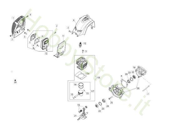 Motore per decespugliatore BC 240 S