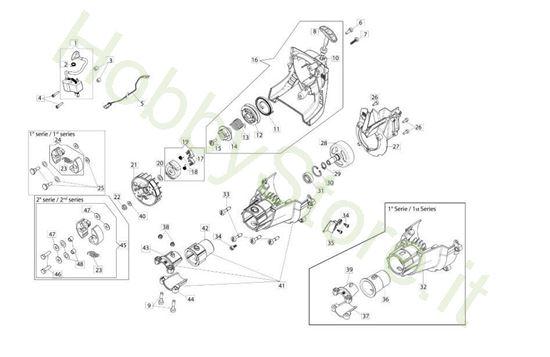 Avviamento e frizione per BC 240 S