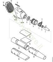 Motore elettrico, soffiante Bga 100