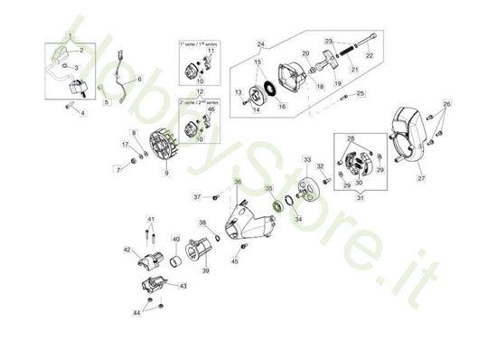 Avviamento e frizione per BC 270 S (Ø 26)