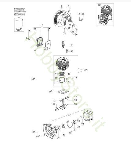 Motore per BC 280 S