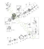Avviamento e frizione per BC 280 S
