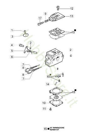 Carburatore WT 930 C per BC 280 S