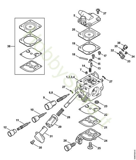 Carburatore BR 430 C1Q-S209, C1Q-S220, C1Q-S165, C1Q-S199