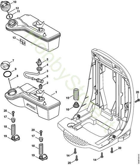 Serbatoio carburante,Sistema AntiVibrante BR 450