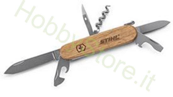Coltello da tasca con manico in legno STIHL