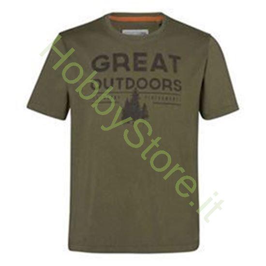 T-Shirt Stihl  OUTDOORS VERDE