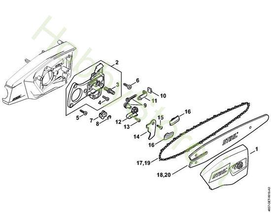 Coperchio, rocchetto catena HTA 65