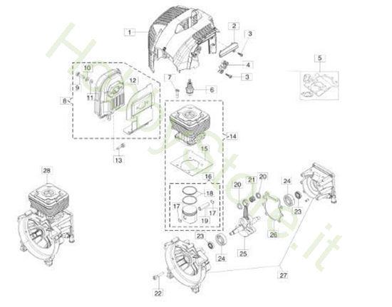 Motore per BC 400 S
