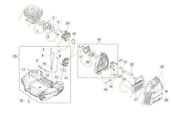 Serbatoio e filtro aria per BC 400 S