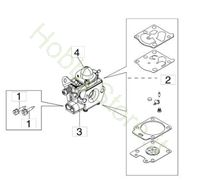 Carburatore WT 1099 per BC 400 S