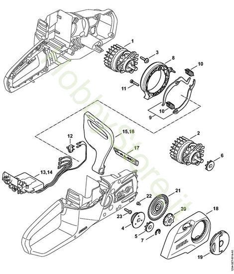 Elettromotore, modulo elettronico, coperchio rocchetto catena msa 120