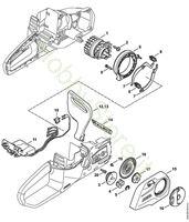 Elettromotore, modulo elettrico, coperchio rocchetto MSA 140 Stihl