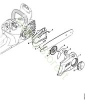 Coperchio rocchetto catena MSA 160 Stihl