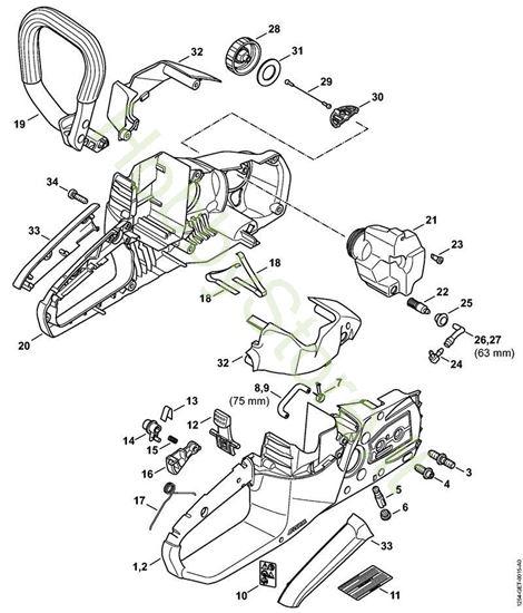 Corpo impugnatura e cappottatura MSA 140 Stihl