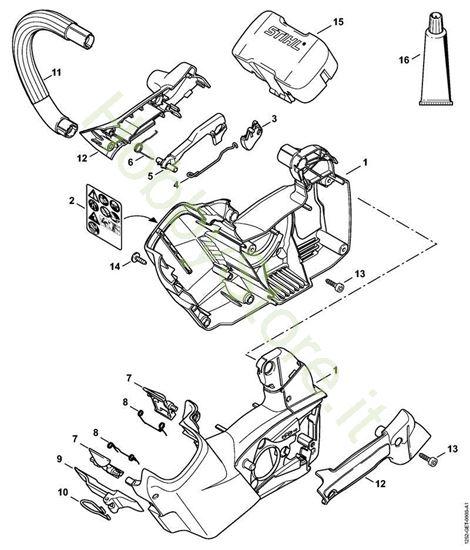 Carcassa motore, manico tubolare MSA 160 T
