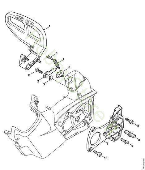 Protezione mano, freno catena  MSA 160 T Stihl