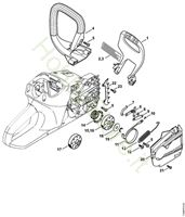 Protezione mano, freno catena MSA 200 C-BQ Stihl