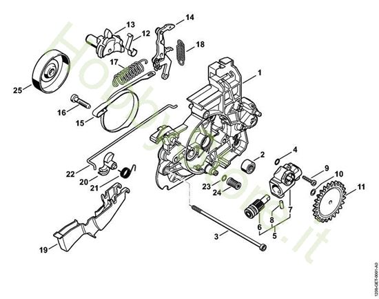 Scatola riduttore, pompa olio MSE 141 C-Q Stihl