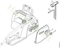 Coperchio rocchetto catena, attrezzi  MSE 141 C-Q Stihl