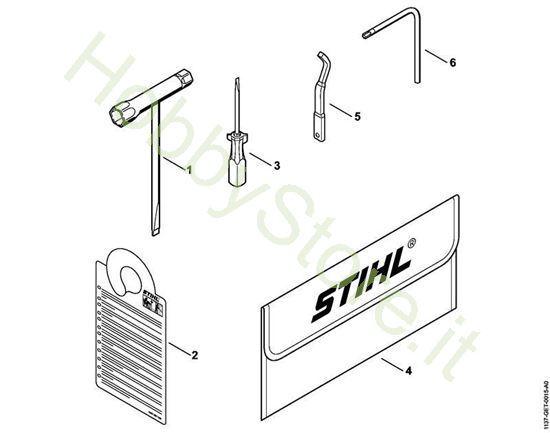 Attrezzi, accessorio a richiesta  MS 193 T Stihl