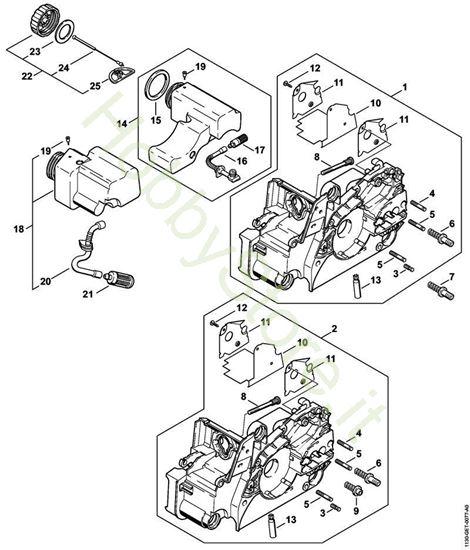 Carcassa motore  MS 180 Stihl