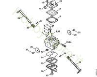 CarburatoreC1Q-S57, C1Q-S57, C1Q-S264  MS 180
