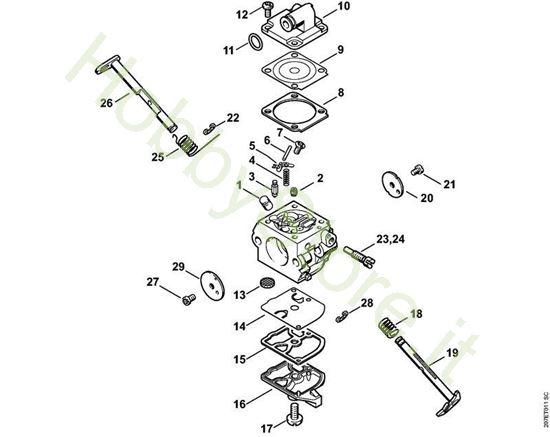 CarburatoreC1Q-S137, C1Q-S137 BR  MS 180 Stihl