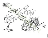 Carcassa motore Ms 170 Stihl