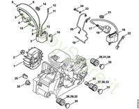 Impianto di accensione, Sistema AV Ms 170 Stihl