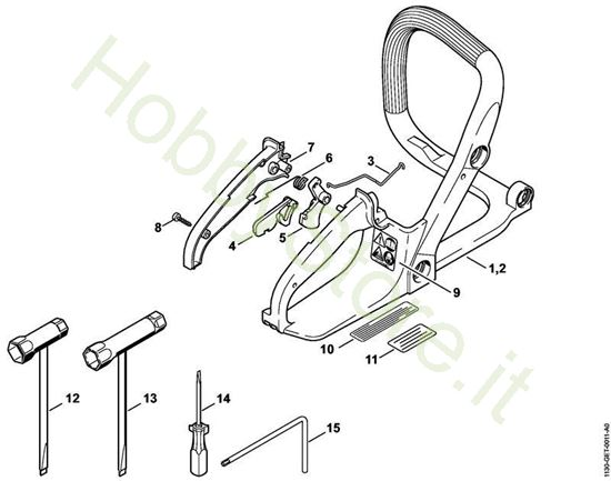 Manico telaio attrezzi Ms 170 Stihl
