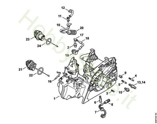 Carcassa motore Ms 171 Stihl