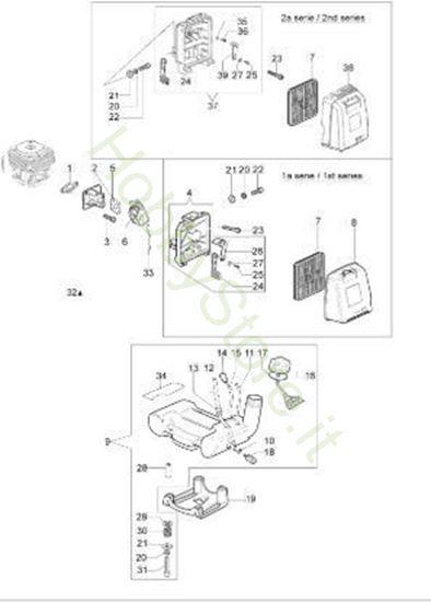 Serbatoio e filtro aria per Sparta 380 S